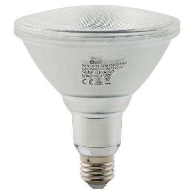 Ampoule LED Diall réflecteur E27 14 5W=120W blanc chaud