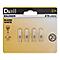 4 ampoules halogène capsule Diall G4 16W=30W blanc chaud