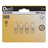 4 ampoules halogène capsule Diall G4 25W=46W blanc chaud