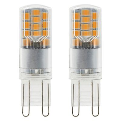 2 ampoules LED Diall capsule G9 2 6W=28W blanc chaud