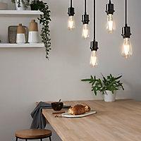 Ampoule à filament ST64 LED Diall E27 6,5W=60W blanc chaud