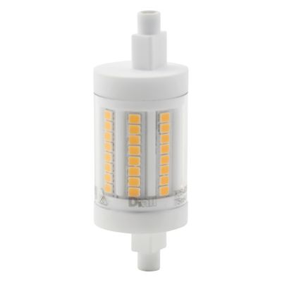 Ampoule LED Diall R7s 9W=75W blanc chaud