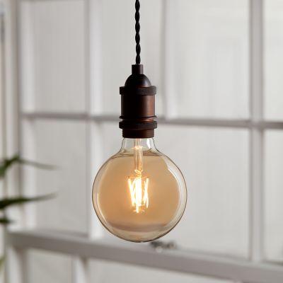Ampoule à filament globe LED Diall E27 Ø120mm 6W=40W blanc chaud