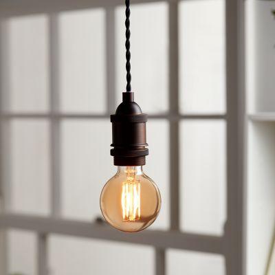 Ampoule LED à filament Diall globe Ø 80mm E27 9W=60W blanc chaud