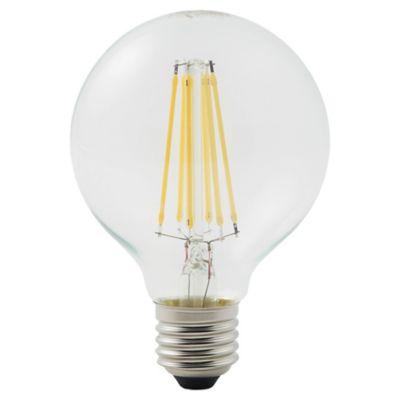 Ampoule LED à filament Diall globe E27 8W=75W blanc chaud