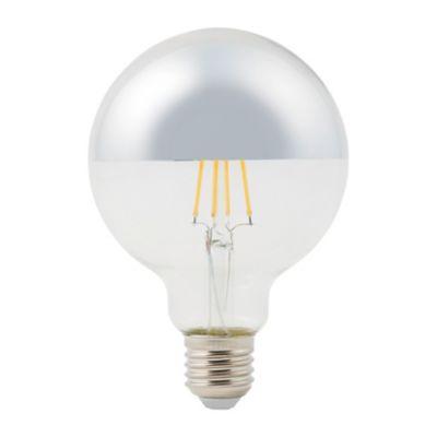Ampoule LED à filament Diall globe argent E27 5W=40W blanc chaud