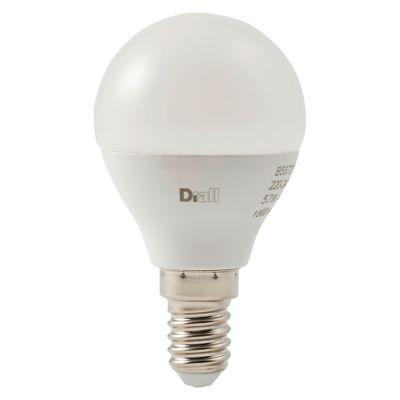 Ampoule LED Diall mini globe E14 5 7W=40W blanc chaud