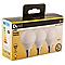 3 ampoules LED Diall mini globe E14 5,7W=40W blanc chaud