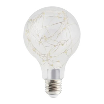 Ampoule LED Diall GLS E27 0 8W blanc froid