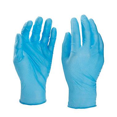 Gants nitrile jetables bleu, paquet de 100 - Taille 10 (XL)