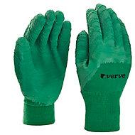 Gants de jardinage enduit latex vert Verve - Taille 9 (L)