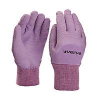 Gants de jardinage enduit latex lavande Verve - Taille 7 (S)