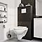 Brosse WC Amantea argent brossé GoodHome