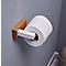 Porte-rouleaux papier toilette Nantua bois naturel et acier blanc GoodHome
