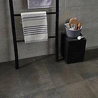 Carrelage sol gris 30 x 60 cm Metal ID (vendu au carton)