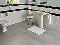 Carrelage sol gris 30 x 60 cm Soft Travertin