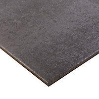 Carrelage sol anthracite 60 x 60 cm Metal ID