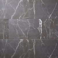 Carrelage sol gris 30 x 60 cm Elegance Marble