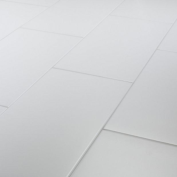 Carrelage Sol Blanc 30 X 60 Cm Plain Castorama