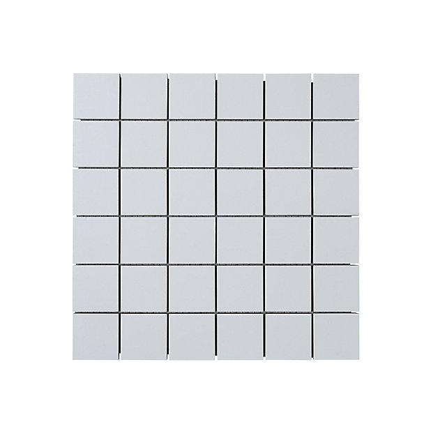 Mosaique Sol Et Mur Blanc 30 X 30 Cm Plain Castorama