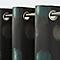 Rideau GoodHome Kolla vert noir 140 x 260 cm