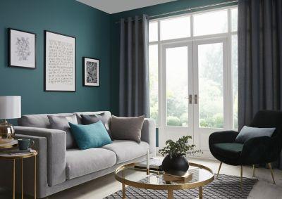 Rideau GoodHome Digga bleu 140 x 260 cm