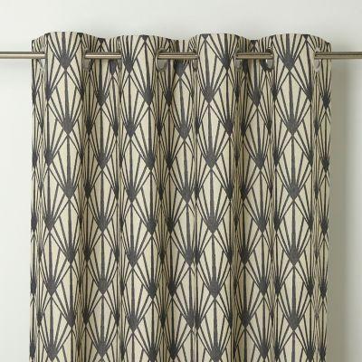 Rideau GoodHome Fremont gris 140 x 260 cm