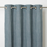 Rideau GoodHome Tiga vert bleu 140 x 260 cm