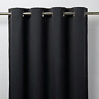 Rideau GoodHome Taowa gris foncé 140 x 260 cm
