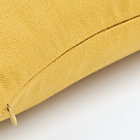 Coussin GoodHome Taowa jaune 50 x 50 cm