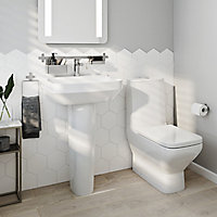 Pack WC à poser adosser au mur sans bride sortie horizontale GoodHome Teesta