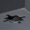 Muret plastique Blooma Nurgul noir 80 x 35 x h.39 cm