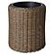 Pot rond plastique BLOOMA Soron effet rotin ø37 x h.40 cm