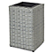 Pot carré plastique BLOOMA Sulana effet rotin gris 30 x 30 x h.45 cm