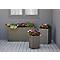 Pot carré plastique Blooma Sulana effet rotin gris 40 x 40 x h.60 cm