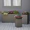 Pot rectangulaire plastique Blooma Sulana gris 115 x 38 x h.60 cm
