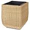 Pot carré plastique BLOOMA Loa effet rotin 40 x 41 x h.44 cm