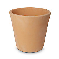 Pot rond terre cuite Blooma Mali effet blanchi ø40 x h.38 cm