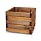Pot carré bois Blooma Bopha marron 40 x 40 x h.35 cm