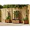 Bac avec treillis bois Blooma Bopha marron 40 x 40 x h.140 cm