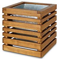Pot carré bois Blooma Denia marron 54 x 50 x h.52 cm