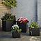 Pot carré ciment Blooma Hoa gris foncé 40 x 40 x h.40 cm