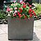 Pot carré ciment Blooma Hoa gris clair 40 x 40 x h.40 cm