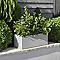 Jardinière ciment Blooma Hoa gris clair 80 x 28 x h.28 cm