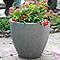 Pot rond ciment BLOOMA Hoa gris foncé ø50 x h.46 cm