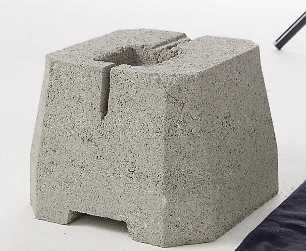 Plot Beton A Enterrer Pour Portique Castorama