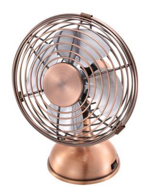 Mini Ventilateur En Metal Couleur Cuivre Castorama