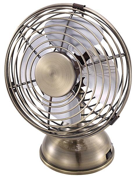 Mini Ventilateur En Metal Couleur Laiton Castorama