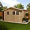 Abri de jardin bois Blooma Taman 10 m² ép.34 mm