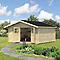Abri de jardin bois + plancher Blooma Oreti, 17,5 m² ép.44 mm